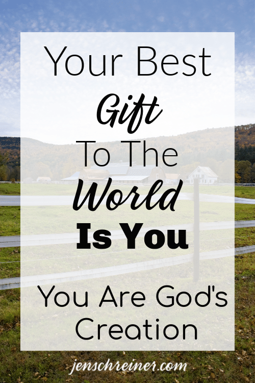 God's greatest masterpiece of creation is you. You are uniquely gifted and chosen by him. Using gifts to glorify Him. Your Best gift To The World Is You.