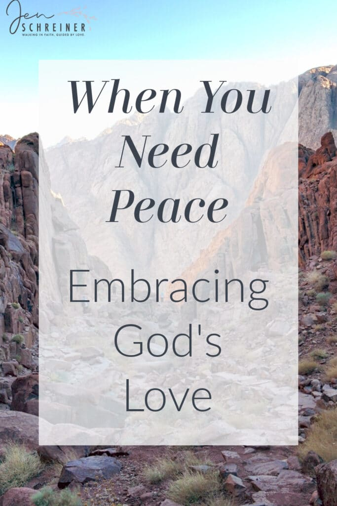 When you need God's peace, hold tightl to God's promises through His word. Find rest and comfort in God's perfect peace today.